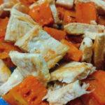 Insalata di pollo e zucca