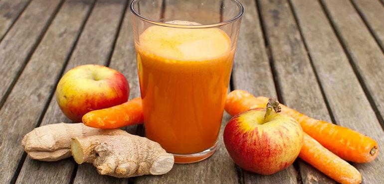 Estratto carote mele e zenzero
