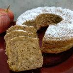 Ciambella vegan gluten free di mele, cannella, zenzero e noci