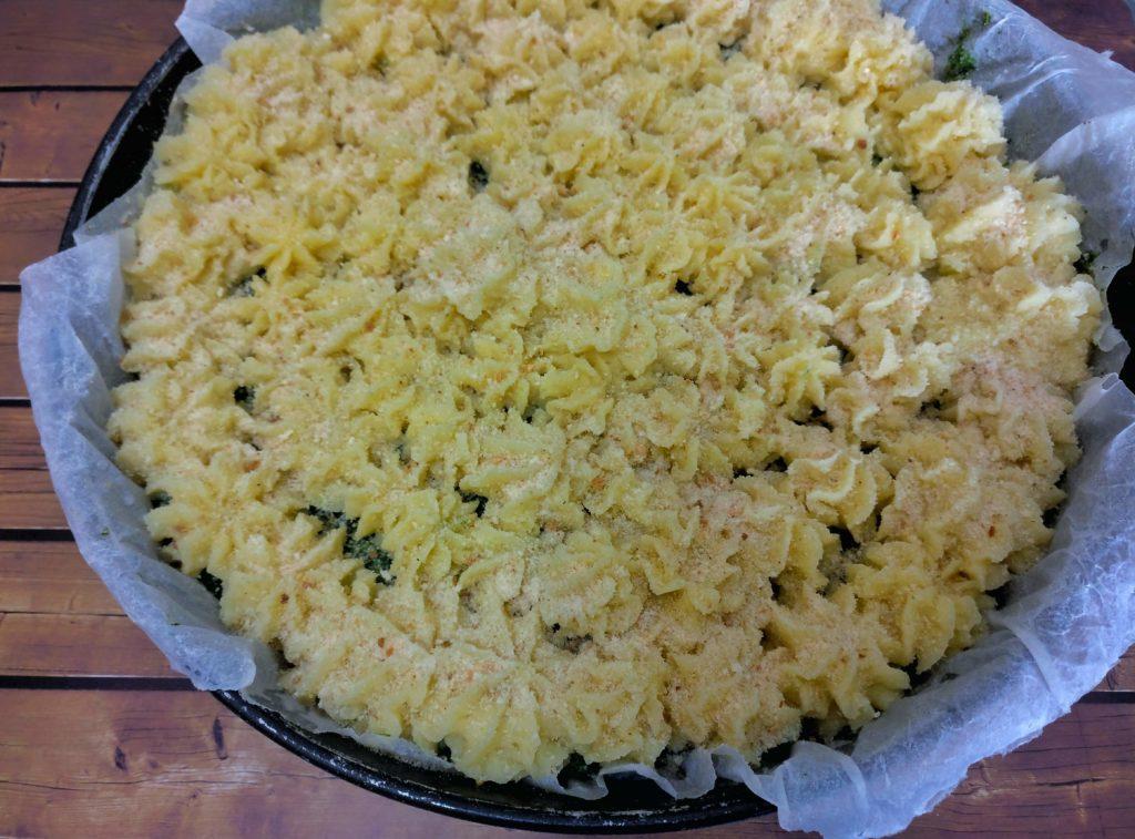 Torta di patate e spinaci