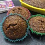 Muffins integrali all'acqua con yogurt e frutta secca senza uova e senza burro