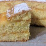 Torta all'arancia senza burro e senza latte con crema all'arancia